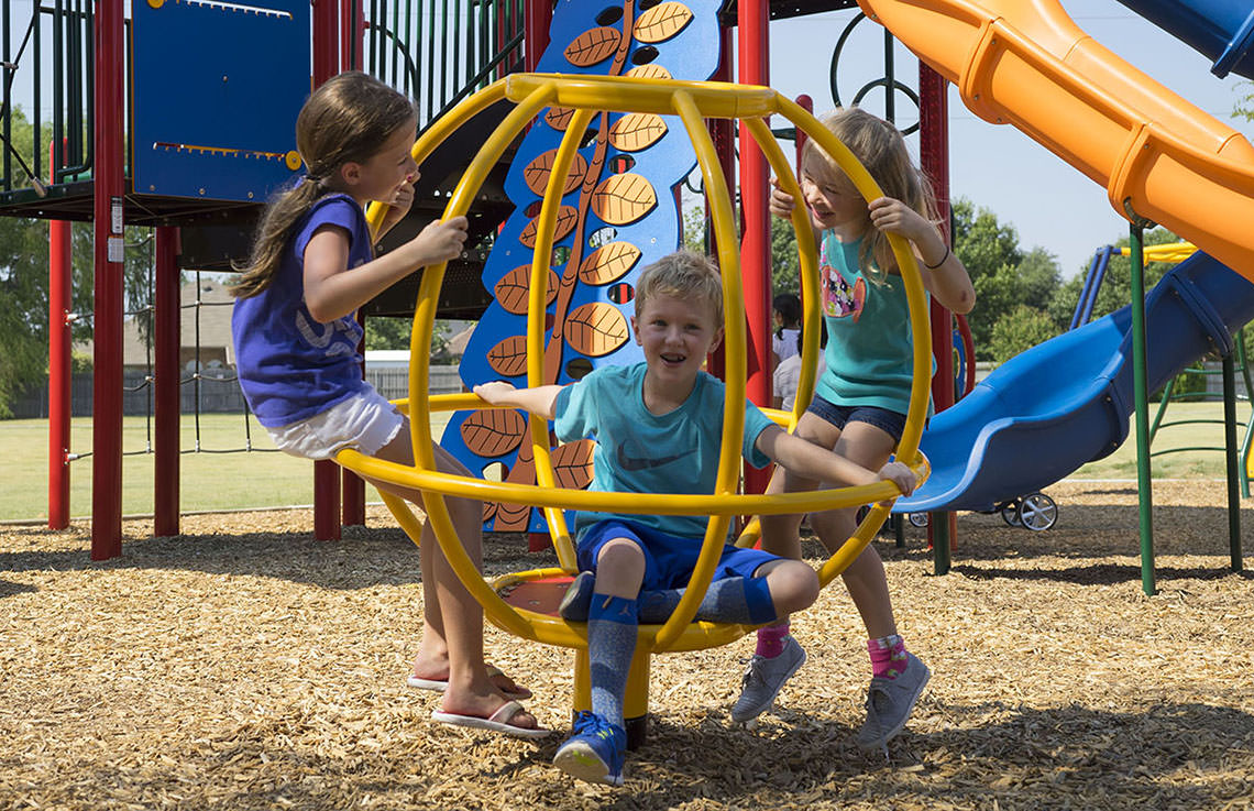 Used Metal Playground Equipment : Spinning playground equipment play outdoor
