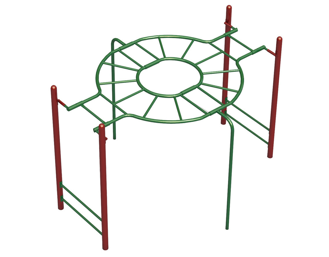 Picture of: Free Standing Monkey Bars Round A Bout