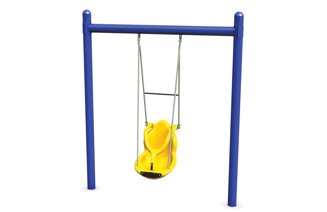 5 Single Post Swing With Single Seat Frame Stand Alone Playground