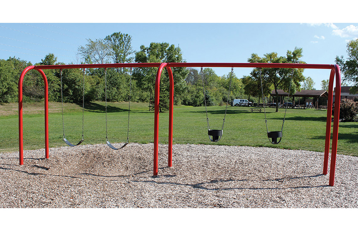 3 5 arch swing playground swing sets for Swing set frame only