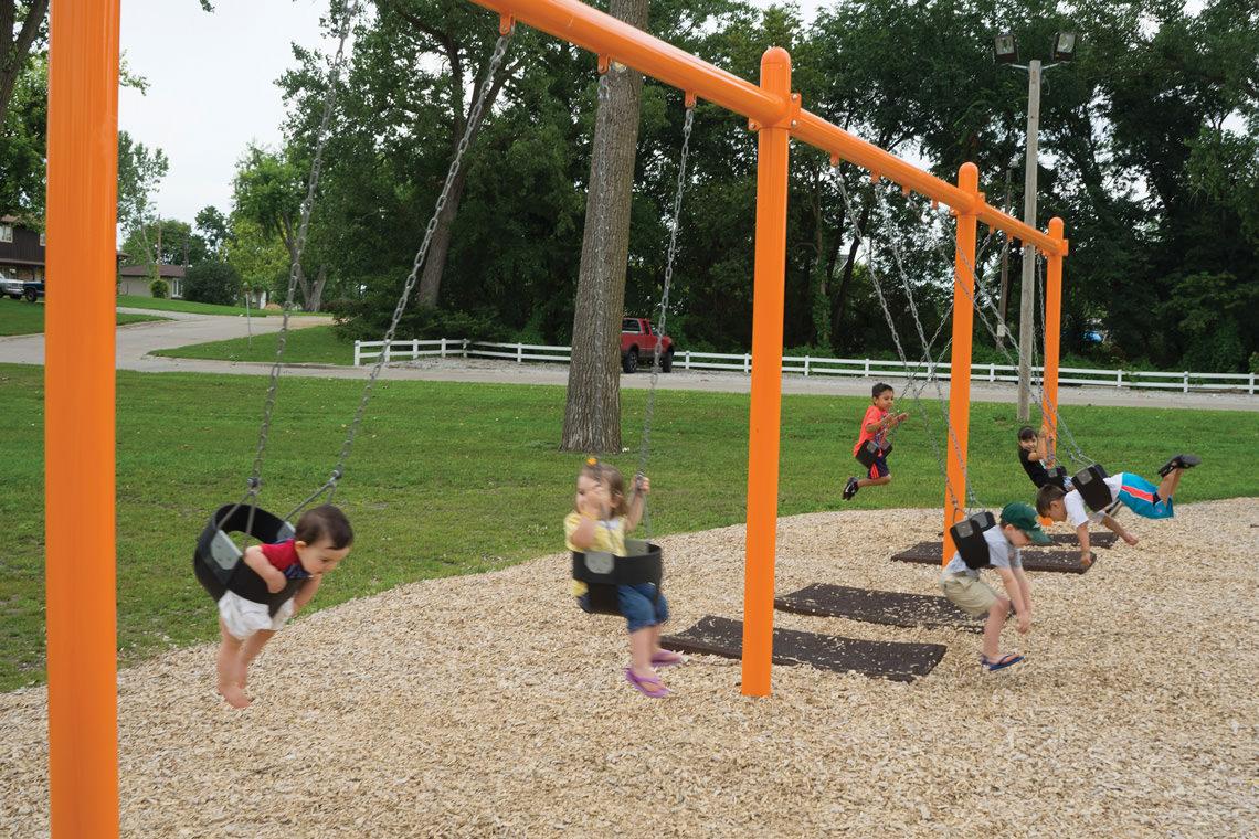 Swinging Playground Equipment : Playground swing posts quot single post