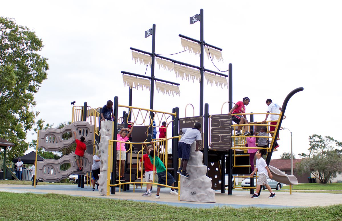 pirate ship playscape