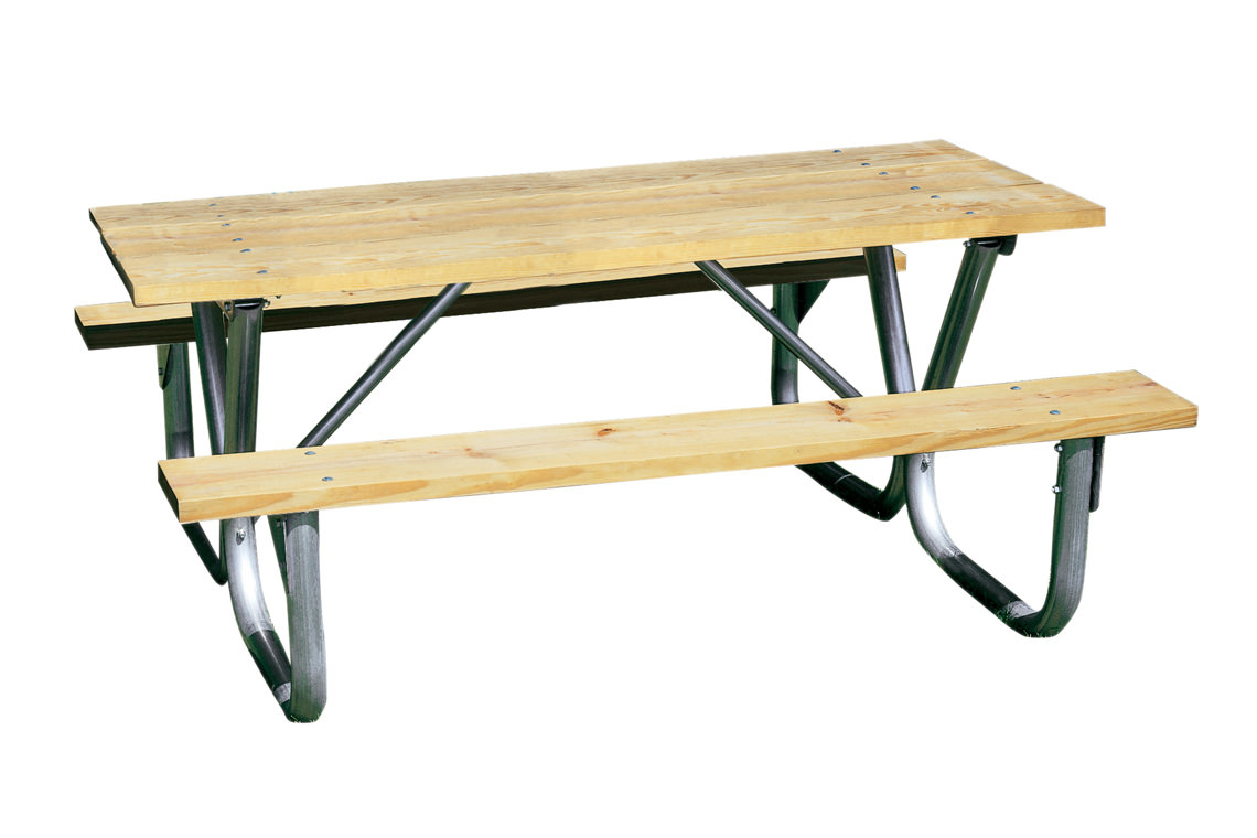 Playground Or Park Picnic Table Natural Pine Table - Playground picnic table