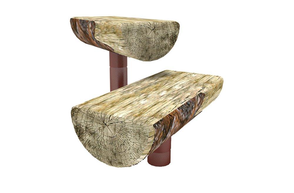 NaturePlay Split Log Bench
