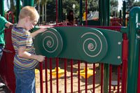 Spiral Spinner Accessible Reach Panel